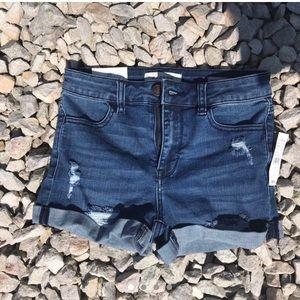 NWT dark / navy blue pacsun high waisted shorts